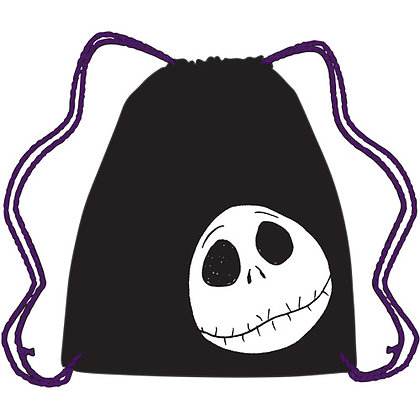 Nightmare Before Christmas, Jack Skellington Black Drawstring Tote