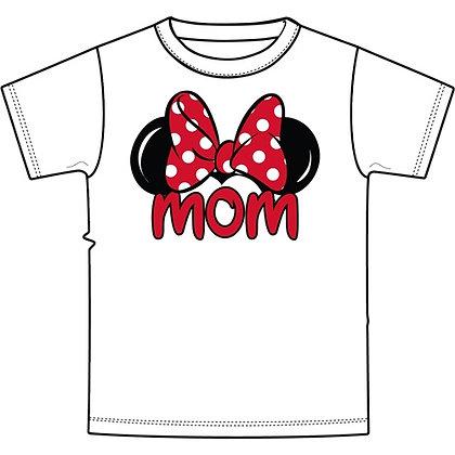 """Disney's White Minnie Ears """"Mom"""" TShirt"""