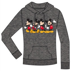 "Disney's ""Mickey Mouse"" Junior Pullover Hoodie, Charcoal Gray"
