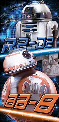 "Disney's ""Star Wars"" Droid Duo R2D2 BB8 28"" X 58"" Beach Towel"
