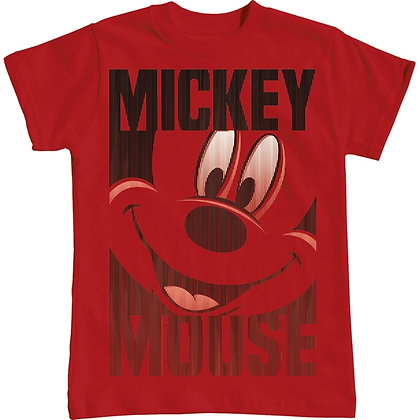 Disney's Mickey Mouse Silo Kids Unisex Red T Shirt