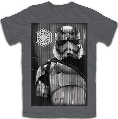 "Disney's ""Star Wars"" Storm Trooper Adult Tee, Charcoal Gray"