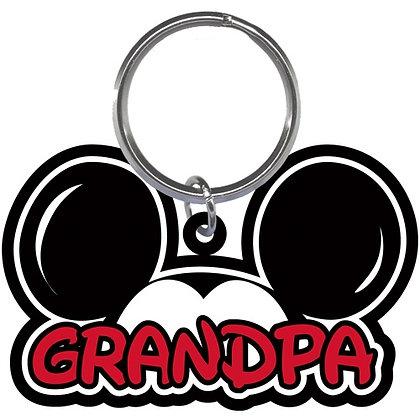 "Disney's MIckey Mouse Ears Shaped ""Grandpa"" Keychain"