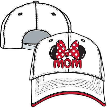 Disney's Adult 'Minnie Mouse Bow' Mom White Hat