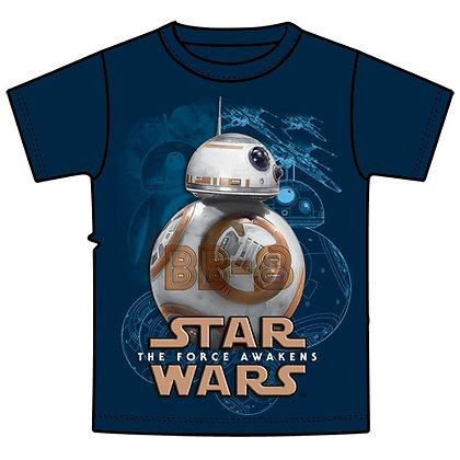 "Disney's ""Star Wars"" BB8 Ball Youth Tee Shirt, Navy"