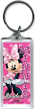 "Disney's ""Minnie Mouse' Cute Pink Polka Dots Keychain"