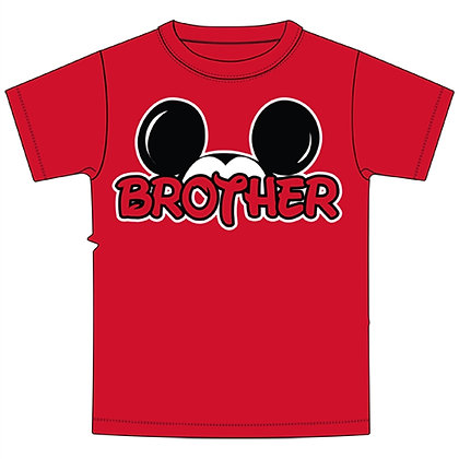 Disney's Red Mickey Ears Brother TShirt