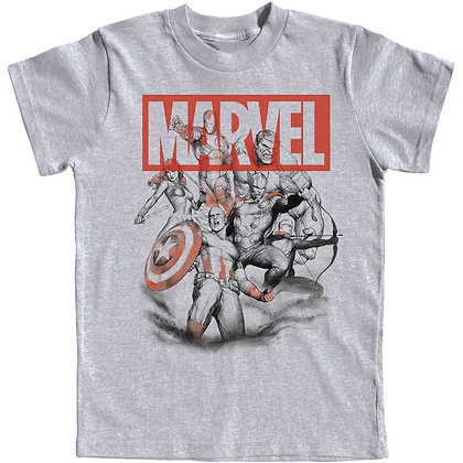 Marvel's Avengers Assembled Captain America Youth Boys T-Shirt