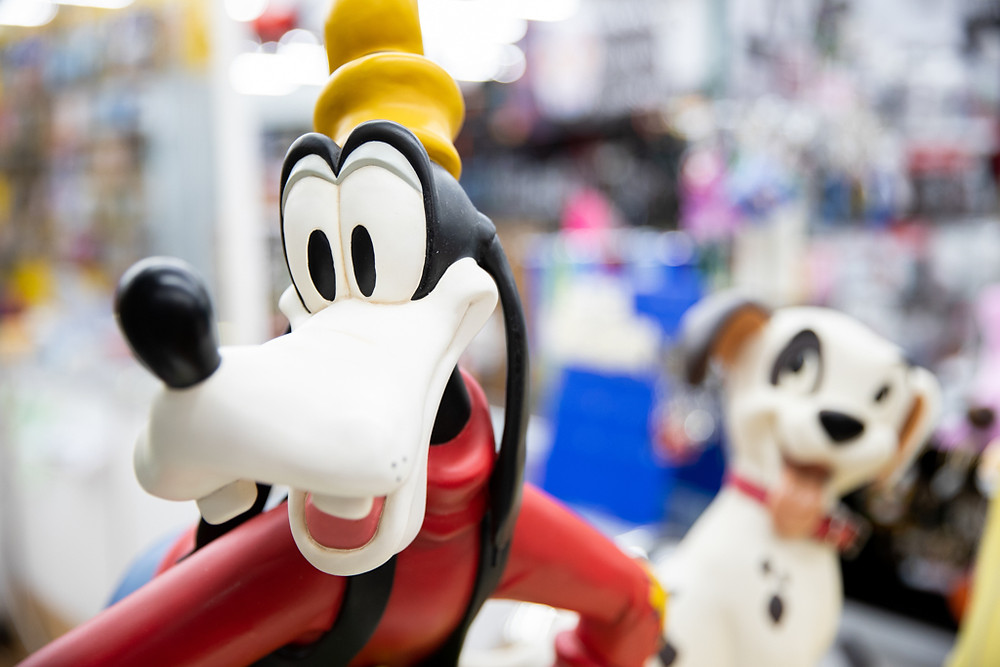 Disney Porcelain Figurines in Visitors Flea Market in Kissimmee, Florida