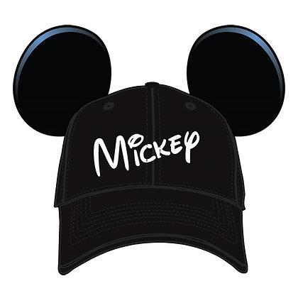 Disney's Adult Mickey Ears Black Baseball Hat