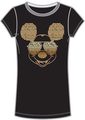 Disney's Adult Women's 'Minnie Mouse' Black & Gold T-Shirt