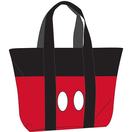 Disney's Red & Black Mickey Mouse Pants Beach Tote