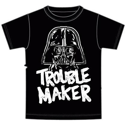 "Disney's ""Star Wars"" Trouble Maker Darth Vader Toddler Boys Tee, Gray"