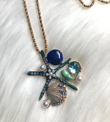 Big Golden Ocean Necklace