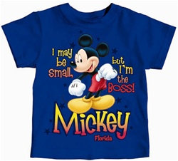 "Disney's ""Mickey Mouse"" I'm the Boss Toddler Tee, Royal"