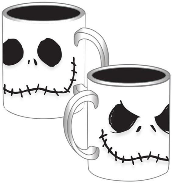 Nightmare Before Christmas Coffee Mug.Nightmare Before Christmas Jack Skellington Faces 14 Oz Coffee Mug