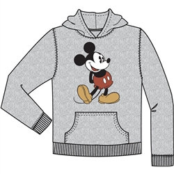 "Disney's ""Mickey Mouse"" Happy Go Lucky Youth Pullover Hoodie, Gray"
