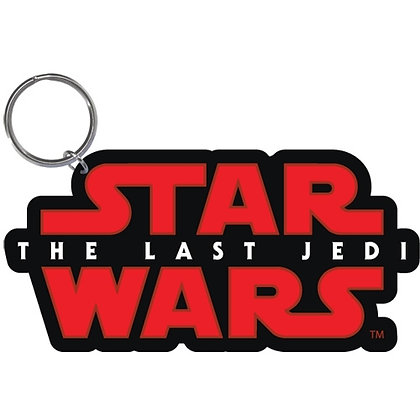 "Disney's ""Star Wars"" Logo The Last Jedi Red & Black Keychain"