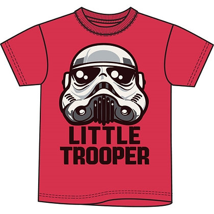 "Disney's ""Star Wars"" Little Trooper Toddler Boys Tee Shirt, Red"