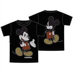 "Disney's ""Mickey Mouse"" Front & Back Youth Tee, Black (Florida Namedrop)"