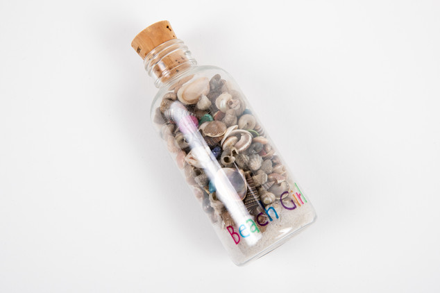 Bottle of seashells