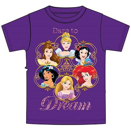 """Disney Princesses """"Dare to Dream"""" Purple Youth Tee"""