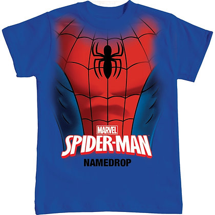 "Disney's ""Spiderman"" Spidey Chest Youth Boys T-Shirt, Royal Blue"