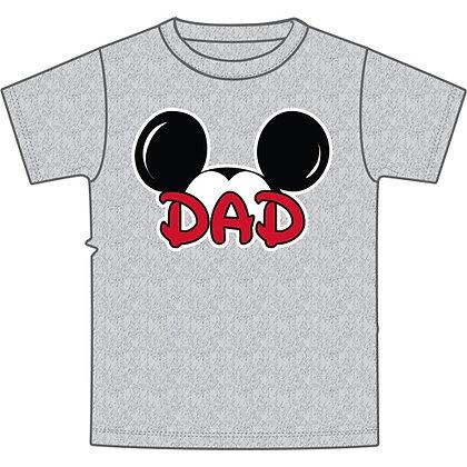 "Disney's Gray Mickey Ears ""Dad"" TShirt"