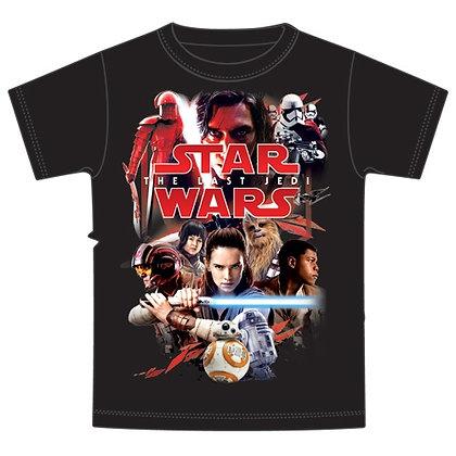 """Disney's """"Star Wars"""" The Last Jedi Plus Size Mens Tee, Black"""