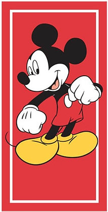 """Disney's Classic Mickey Mouse Red 30"""" x 60"""" Beach Towel"""
