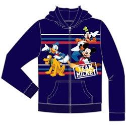 Disney's Mickey, Donald, Goofy, Pluto Zip Up Hoodie, Navy