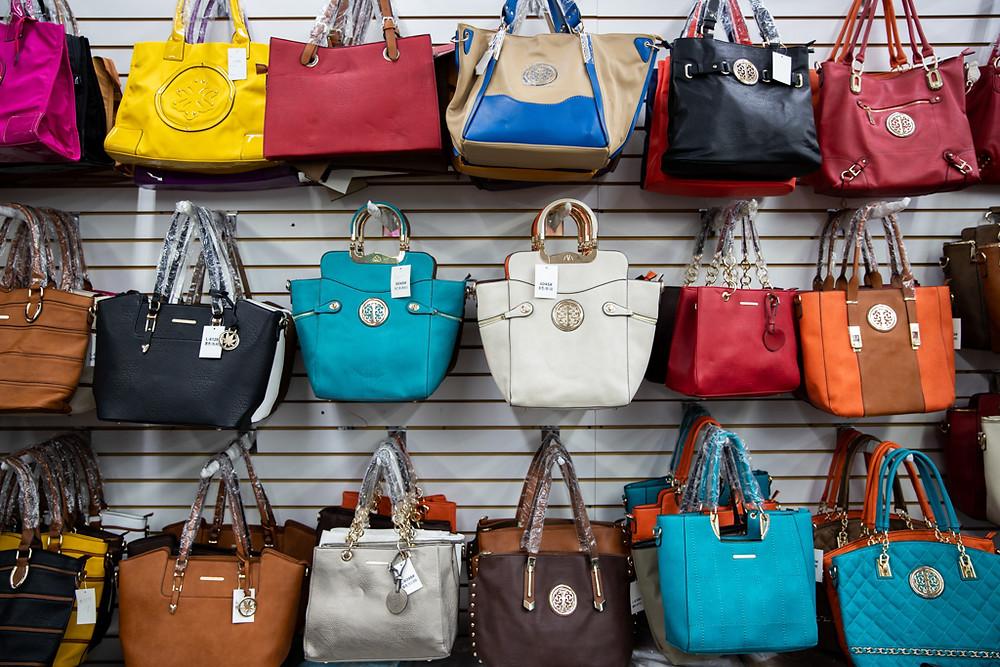 Handbags at the Visitors Flea Market in Kissimmee, Florida