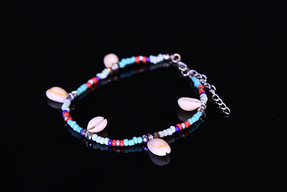 Small Colorful Shells Anklet