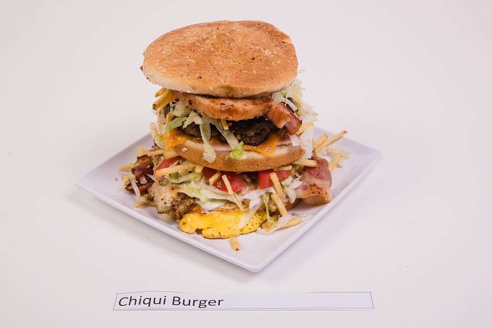 The Chiqui Burger from World Food Trucks in Kissimmee, Florida