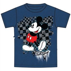 """Disney's """"Mickey Mouse"""" Youth Tee, Blue (Florida Namedrop)"""