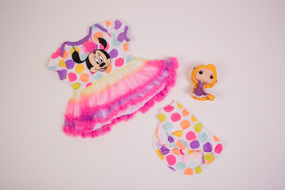 Minnie Mouse Dress Set with Doll from Treasure Island Gift Shop