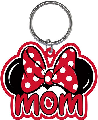 "Disney's Minnie Mouse Ears Shaped ""Mom"" Keychain"