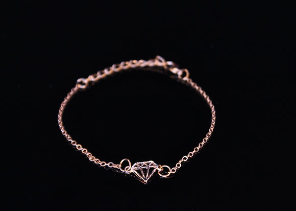Golden Diamond Anklet