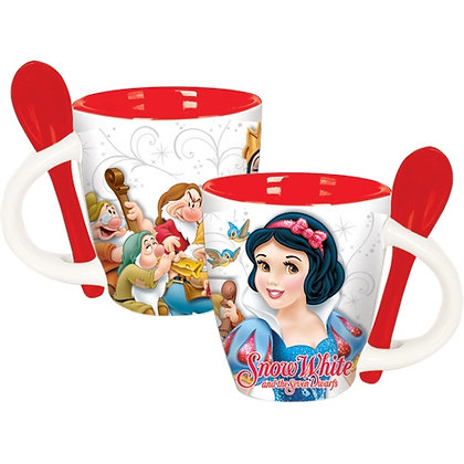 "Disney's ""Snow White & The Seven Dwarfs"" Espresso Cup with Red Spoon"