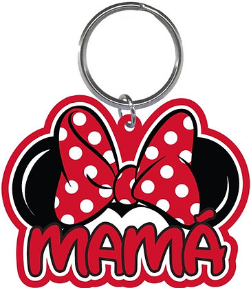 "Disney's Minnie Mouse Ears Shaped ""Mama"" Keychain"