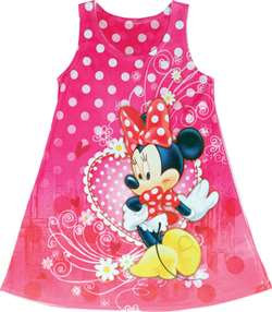 Disney's 'Minnie Mouse' Pink Heart Girls Dress