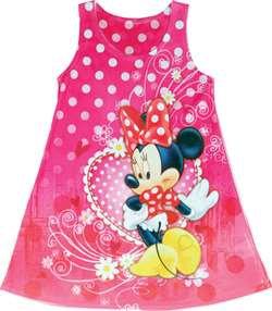 Disney's 'Minnie Mouse' Pink Heart Girls Dress