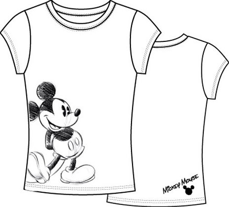 Disney's 'Mickey Mouse' Junior Girls White T-Shirt