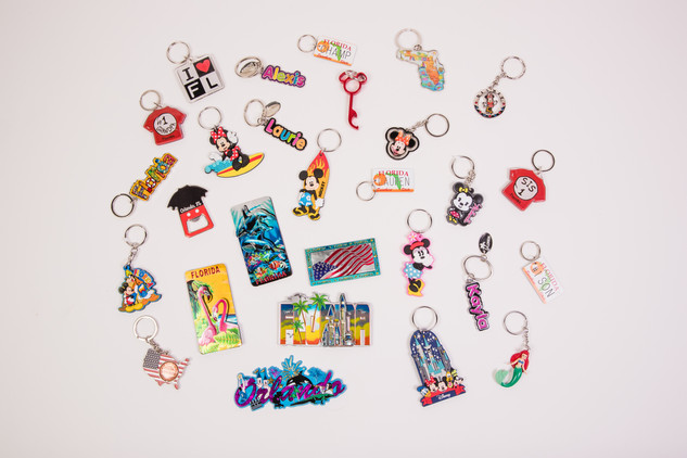 Disney and Florida keychains