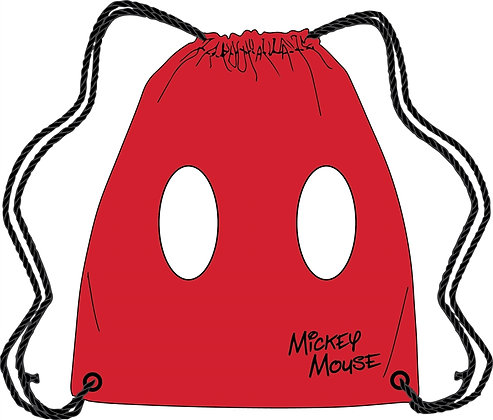 Disney's Mickey Mouse Red Drawstring Tote