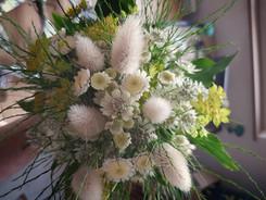 Bouquet champêtre ton blanc