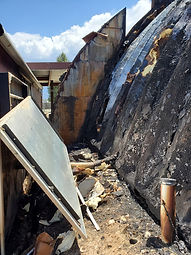 Taos Mesa Brewing Fire Damage - Building