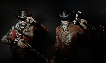 Dusk Brothers with Box Guitars