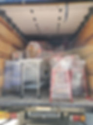 Truck loaded with furniture