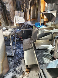 Taos Mesa Brewing bar after 7/2/20 fire